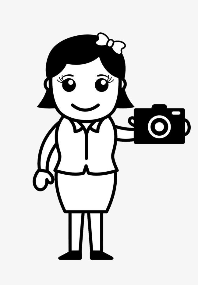 卡通人物相机【高清png素材】-90设计