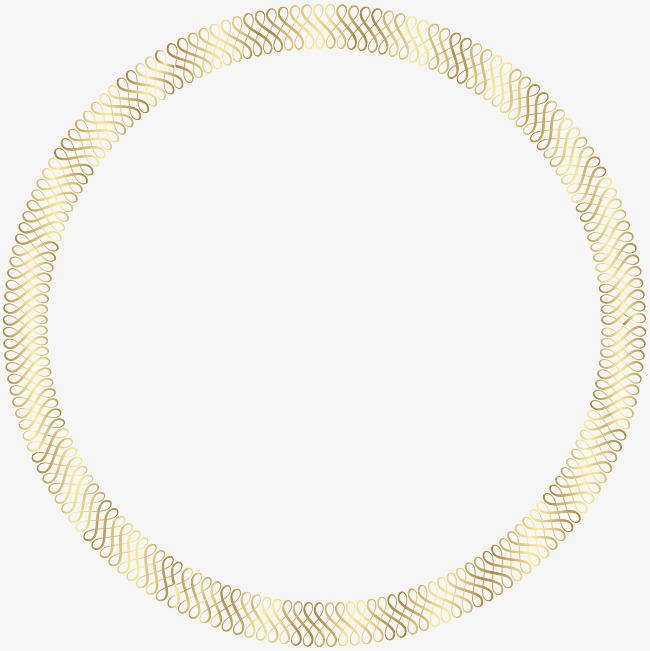 圆形底纹法式边框png图片