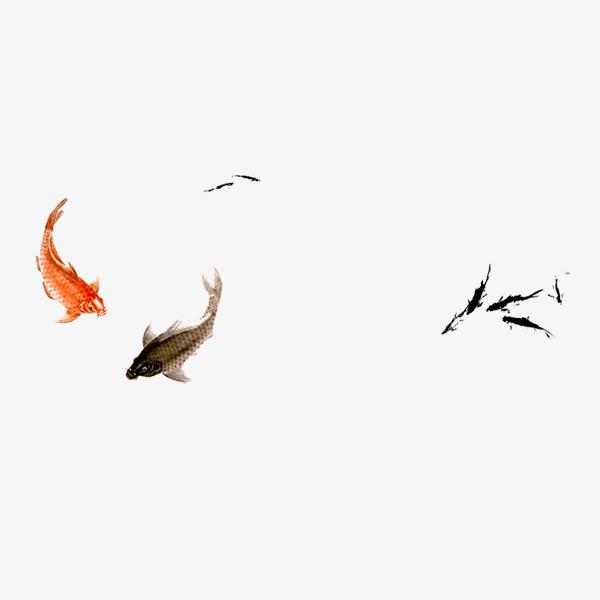 手绘中国风鲤鱼