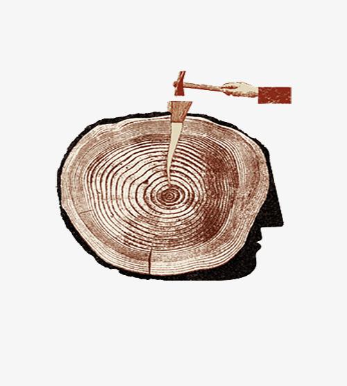 侧身砍树简笔画