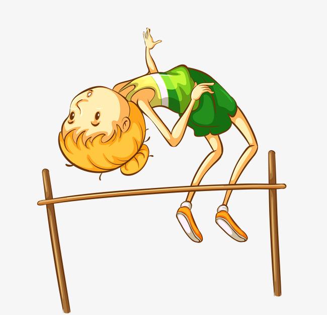 矢量卡通手绘校园运动会跳高素材图片免费下载图片