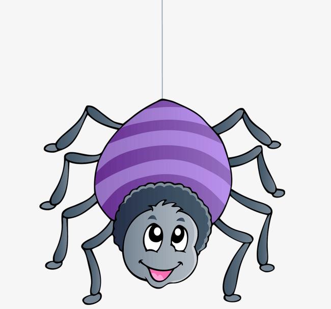 卡通手绘蜘蛛图片