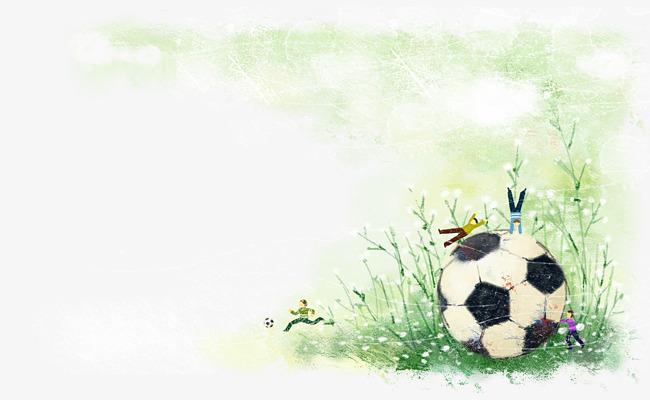卡通足球图片