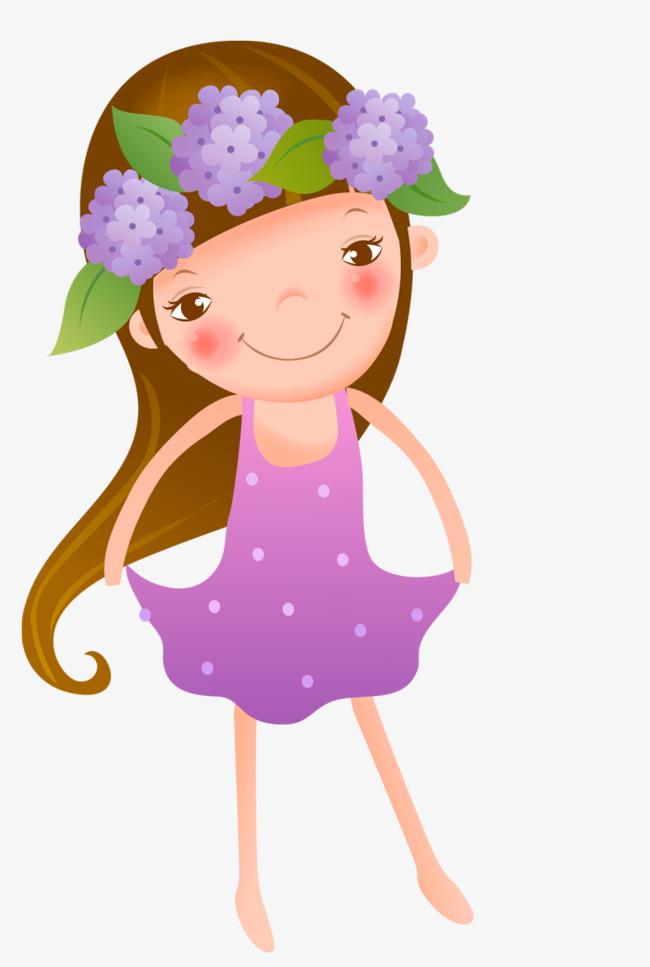 图片 卡通背景 > 【png】 可爱卡通女孩  分类:手绘动漫 类目:其他