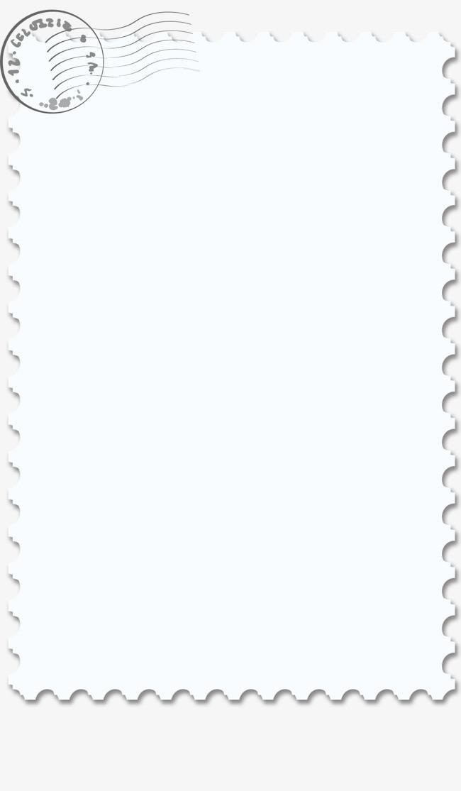 邮戳邮票边框纹理【高清边框纹理png素材】-90设计