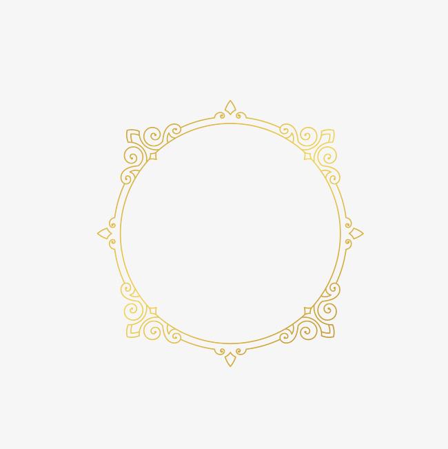 金色圆形欧式边框素材图片免费下载_高清不规