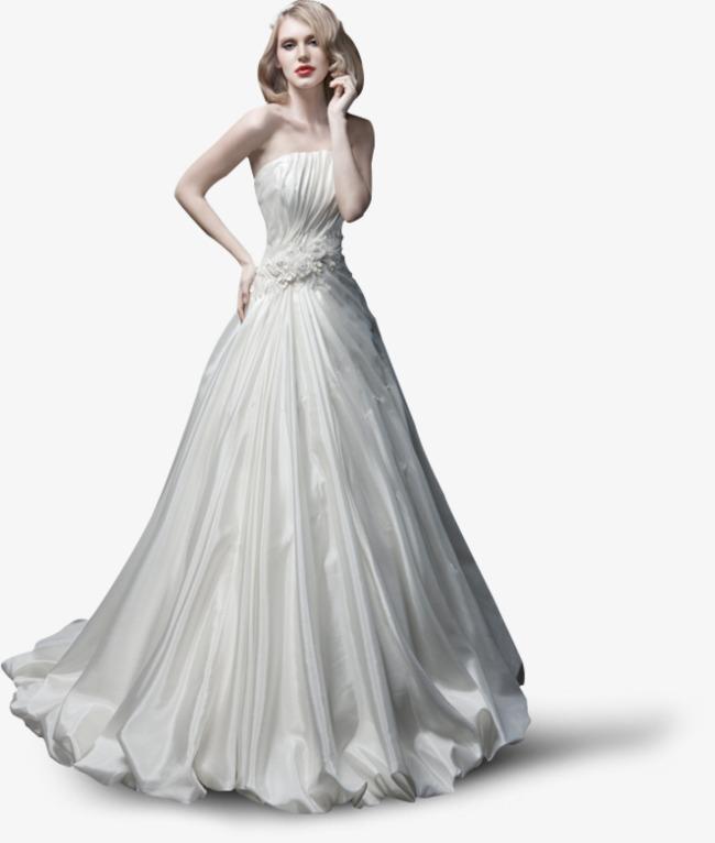 白色长裙模特