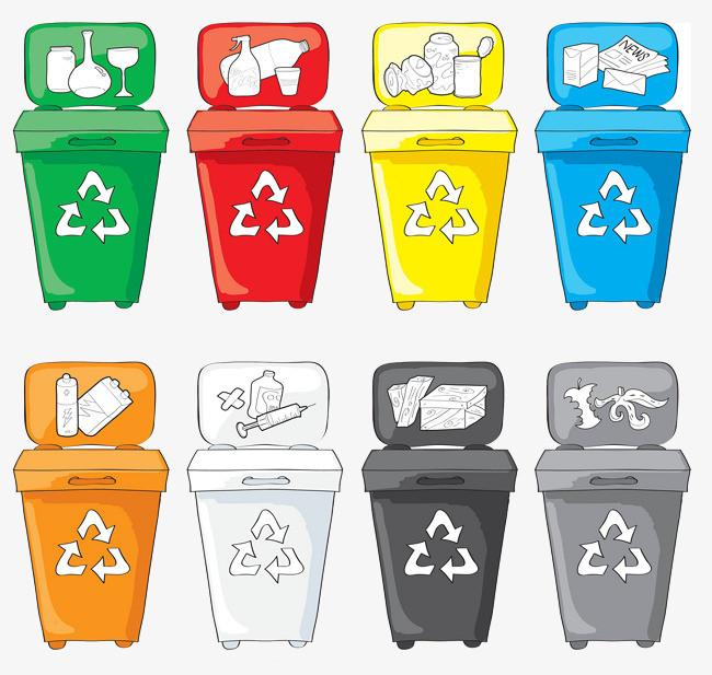 点击右侧免费下载按钮可进行 分类垃圾回收桶png图片素材高速下载.