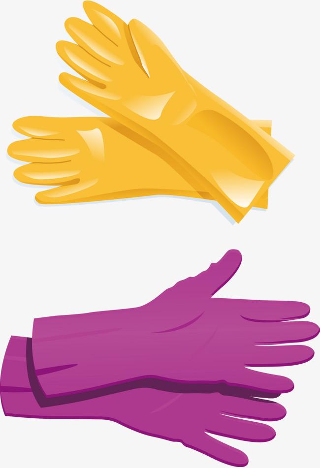矢量手绘胶皮手套