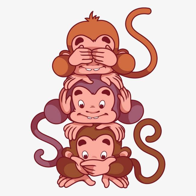 图片 > 【png】 可爱叠罗汉卡通猴子  分类:手绘动漫 类目:其他 格式