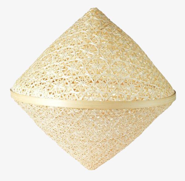 三角形竹子编织草帽