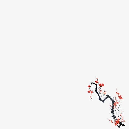 国画手绘梅花