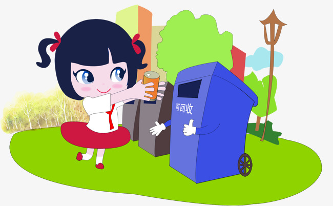 丢垃圾分类回收素材图片免费下载_高清装饰图案psd_千库网(图片编号7654334)