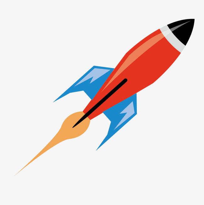 火箭卡通手绘