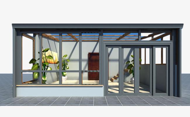 玻璃阳光房效果图