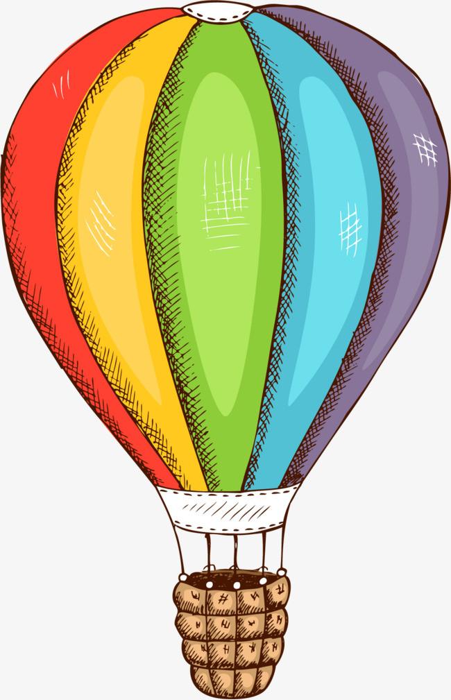 手绘卡通热气球