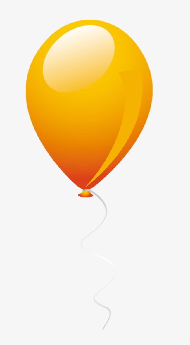 橙色手绘气球装饰图案