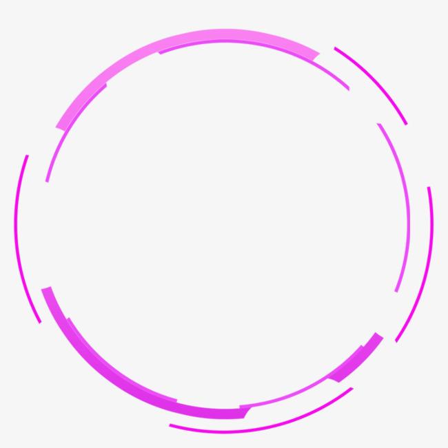 紫色简约圆圈线条边框纹理