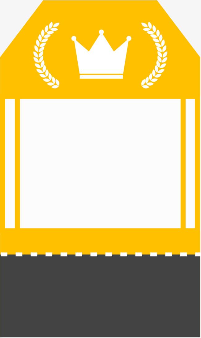 黄色麦穗皇冠边框纹理png素材-90设计