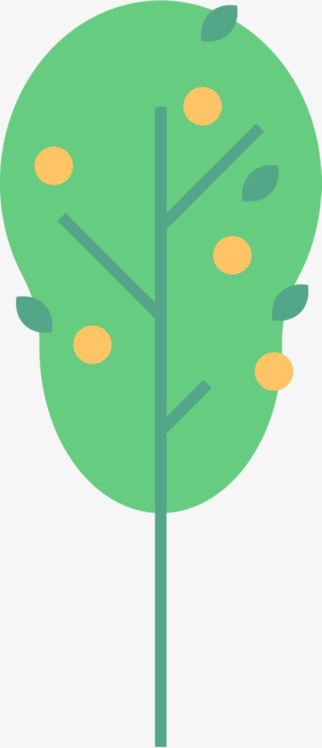 绿色卡通小树装饰图案png素材-90设计