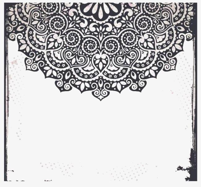 黑色装饰长方图框png素材-90设计图片