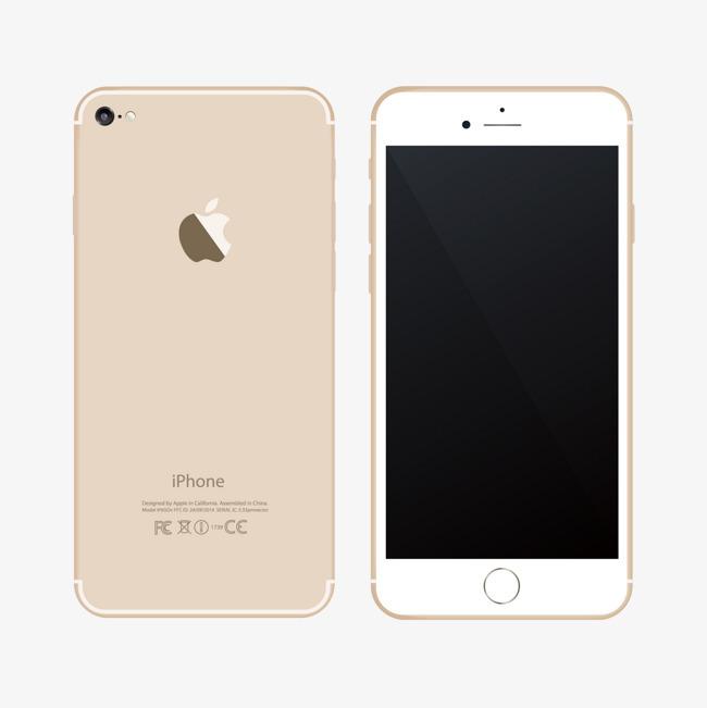 90设计提供高清pnglogo元素素材免费下载,本次矢量金色苹果手机正反面图片