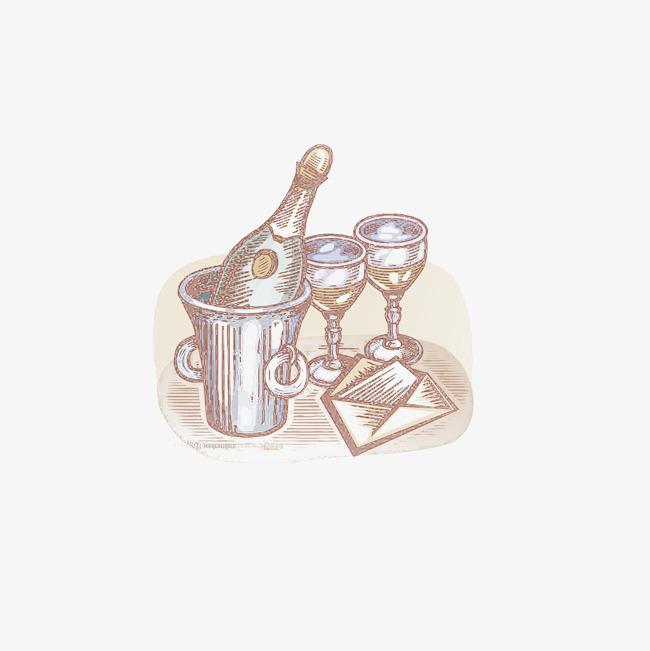手绘彩色竹子酒