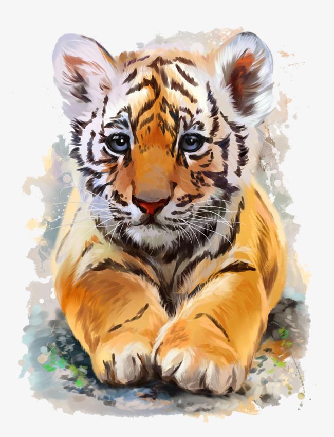 斑纹老虎【高清png素材】-90设计