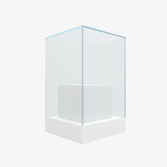 几何立体玻璃橱窗展台图片