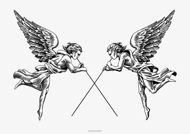 天使手绘图片大全图片