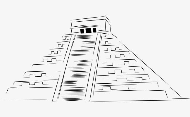 金字塔素描
