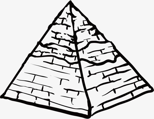 手绘金字塔