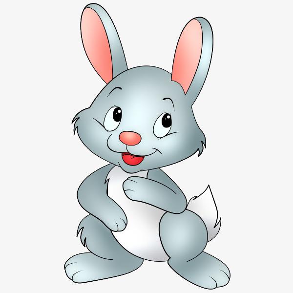 手绘兔子 可爱 卖萌 卡通小兔子