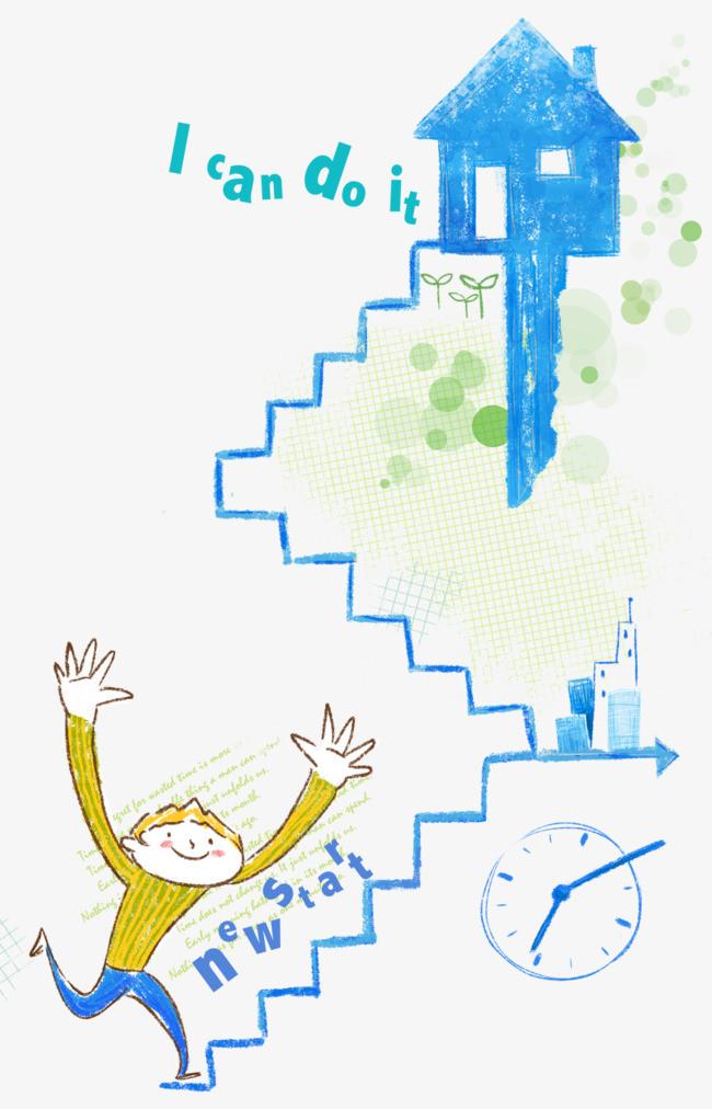 手绘楼梯平面图彩图