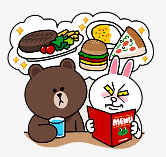 图片 > 【png】 布朗熊 可妮兔  分类:手绘动漫 类目:其他 格式:png