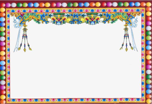藏式花边图形藏族藏式装饰民族花边藏式花边藏式花纹-藏式花边图形