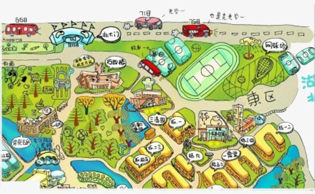 手绘武汉大学地图作品为设计师创作,格式为png,编号为 18271561,大小0图片