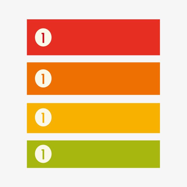 彩色横条分析png素材-90设计