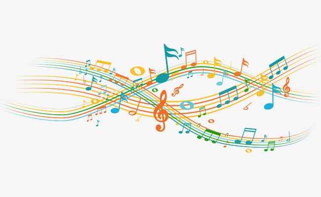 创意音符声波曲线png图片图片