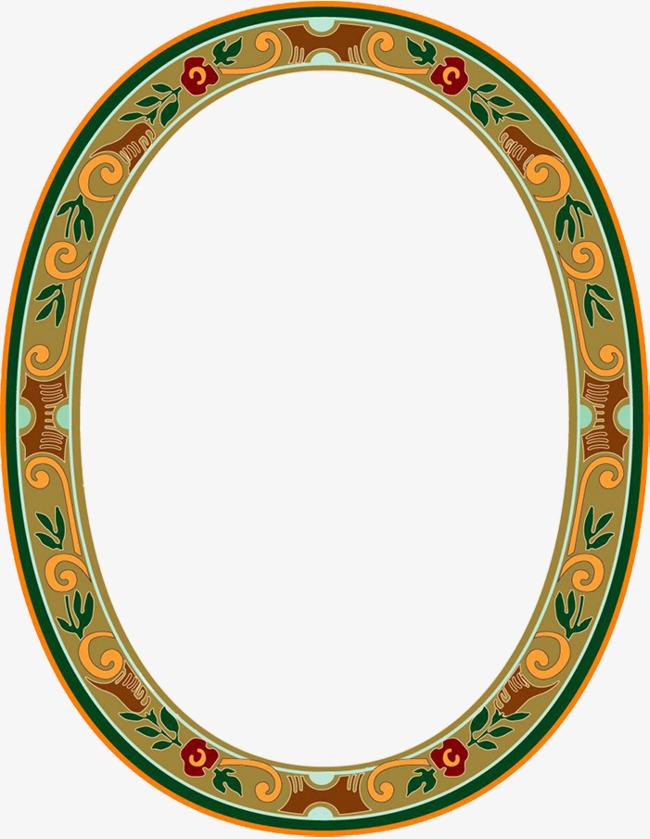 椭圆形藏式花边素材图片免费下载 高清边框纹理png 千库网 图片编号