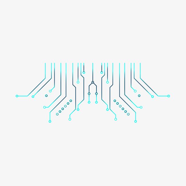 电路板图案矢量图