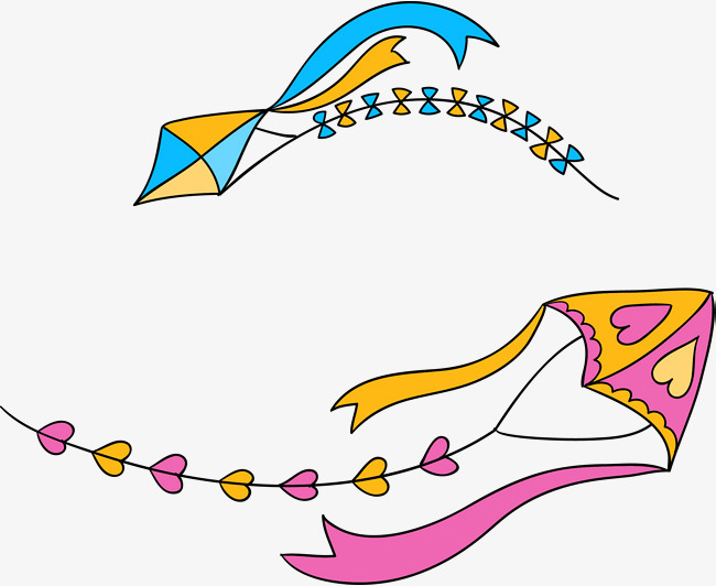 矢量手绘风筝png图片