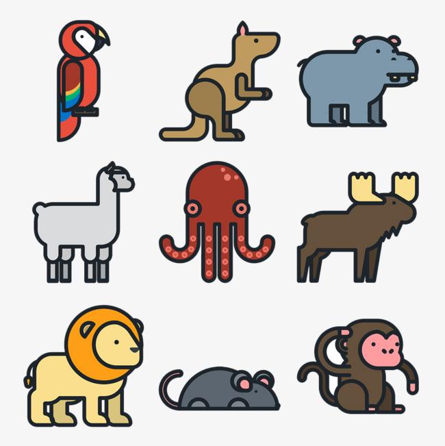 手绘线条动物锦集