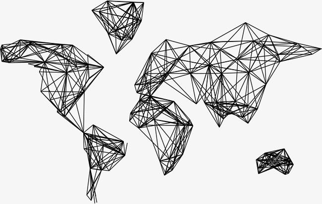 矢量素材 商务 科技 几何线条分子结构             此素材是90设计