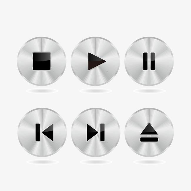 矢量音乐播放按钮图片