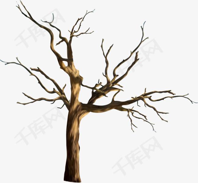 手绘枯树枝素材图片免费下载 高清卡通手绘png 千库网 图片编号7780239