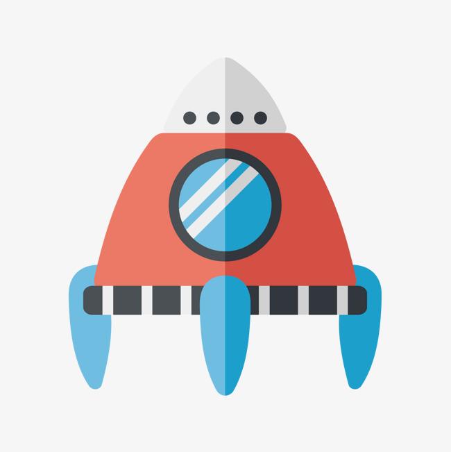 矢量创意ppt设计小太空飞船图标