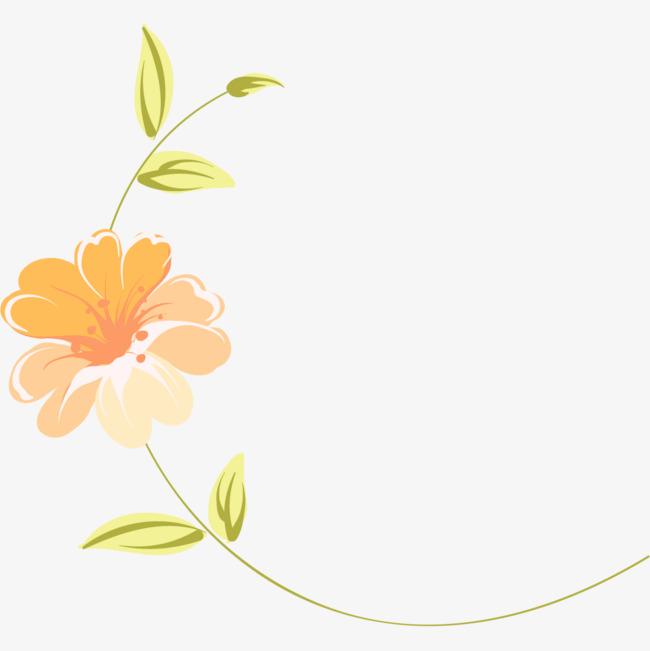 手绘小清新花朵