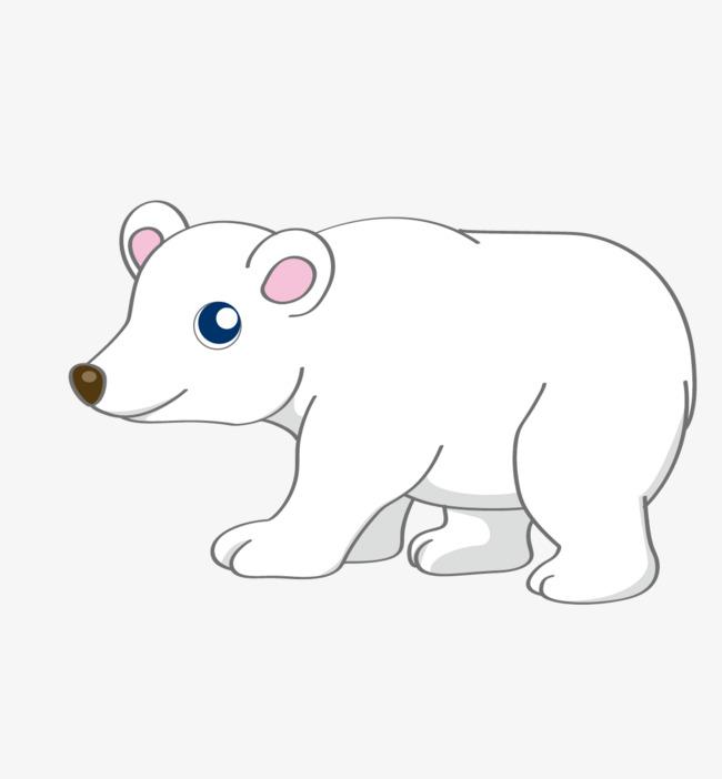 卡通手绘可爱白熊图片