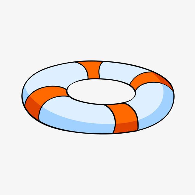卡通手绘游泳圈 矢量 游泳             此素材是90设计网官方设计